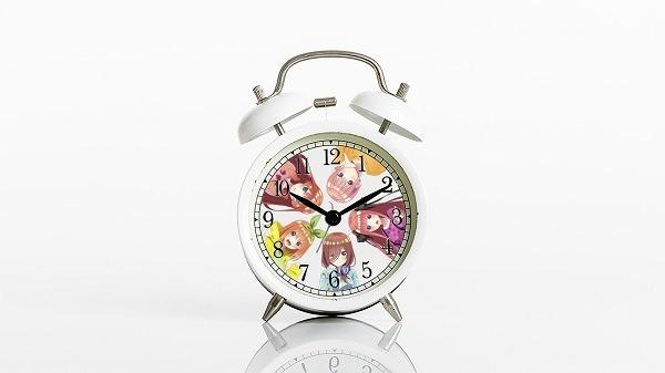 五つ子ボイス付き目覚まし時計 (C)春場ねぎ・講談社/「五等分の花嫁∬」製作委員会