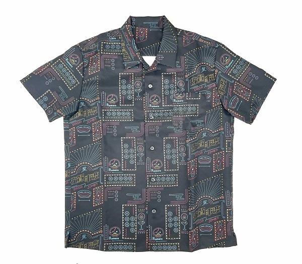 総柄開衿シャツ