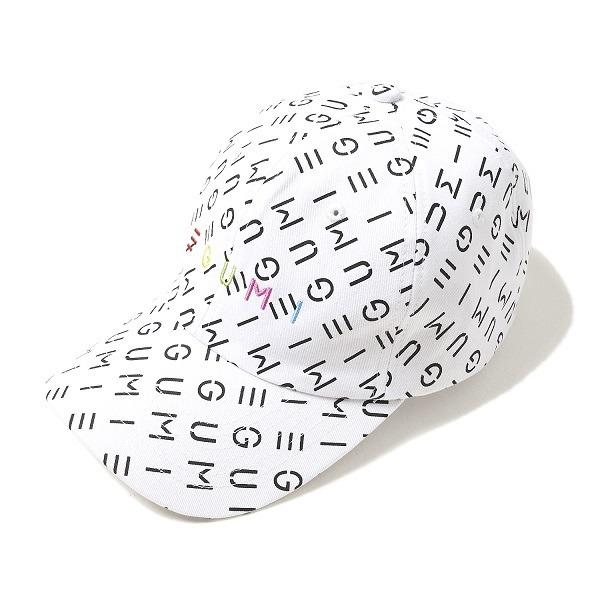 「EGUMI MONOGRAM CAP」WHITE